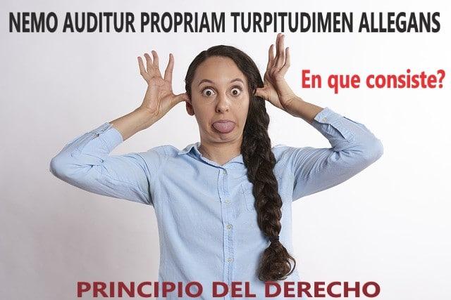 Principio juridico NEMO AUDITUR PROPRIAM TURPITUDINEM ALLEGANS