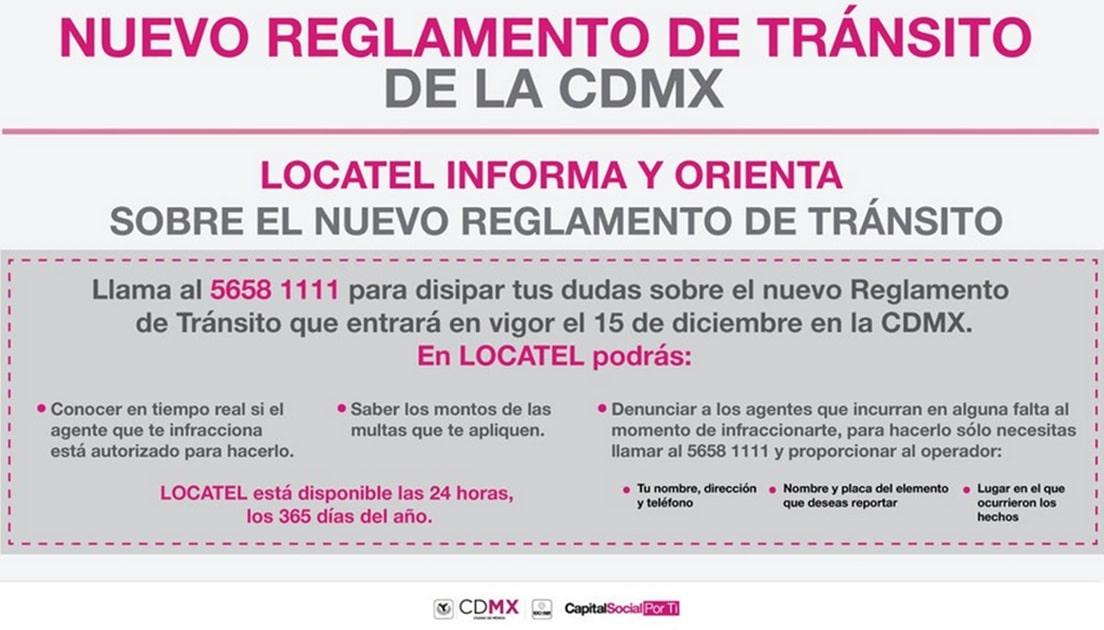 reglamento de tránsito cdmx