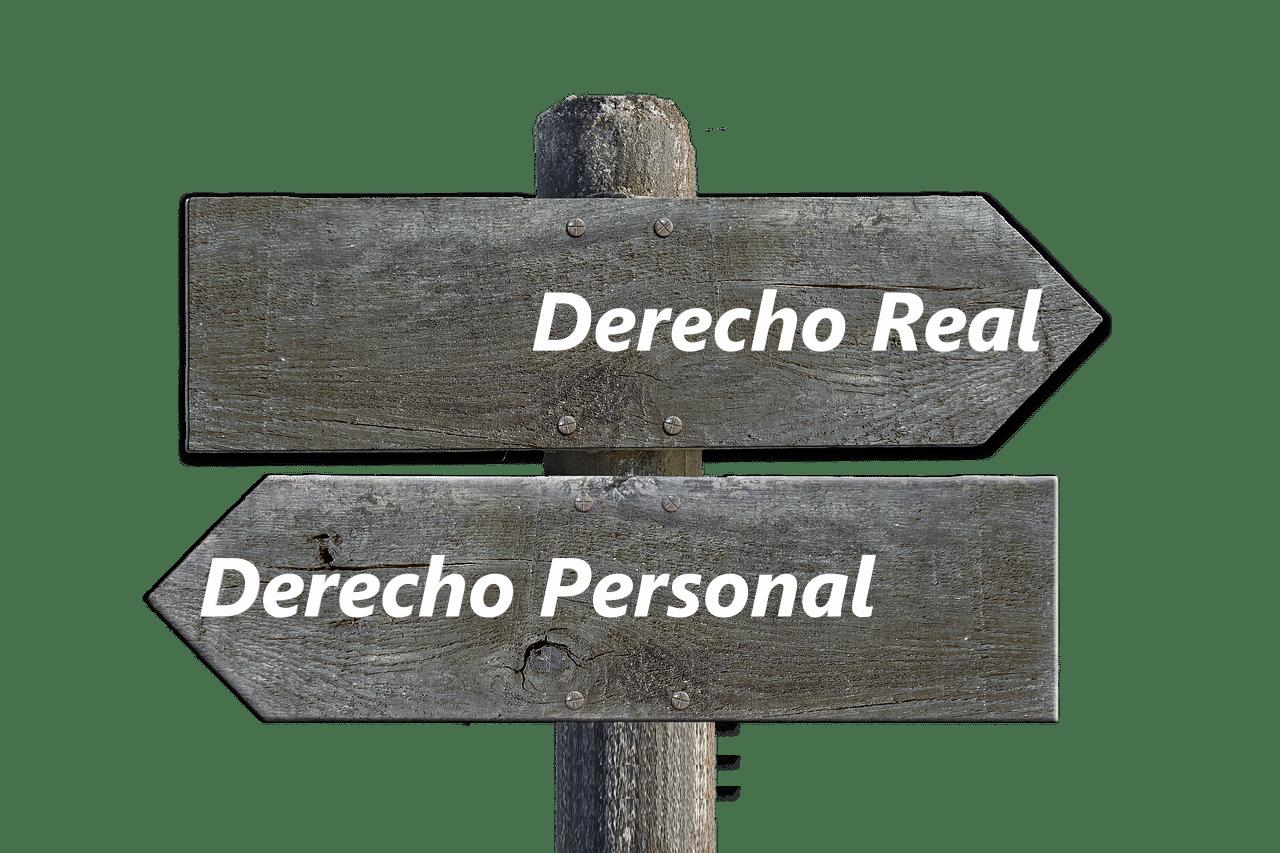 derechos reales y derechos personales