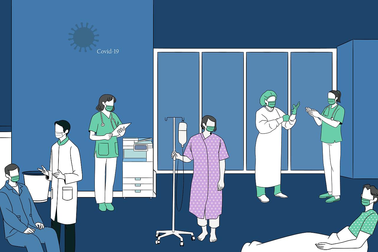 sala médica, justificante médico