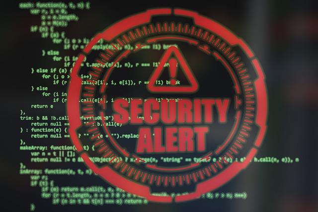 fraude y estafa. Alerta web