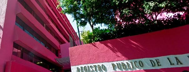REGISTRO PUBLICO PROPIEDAD CDMX