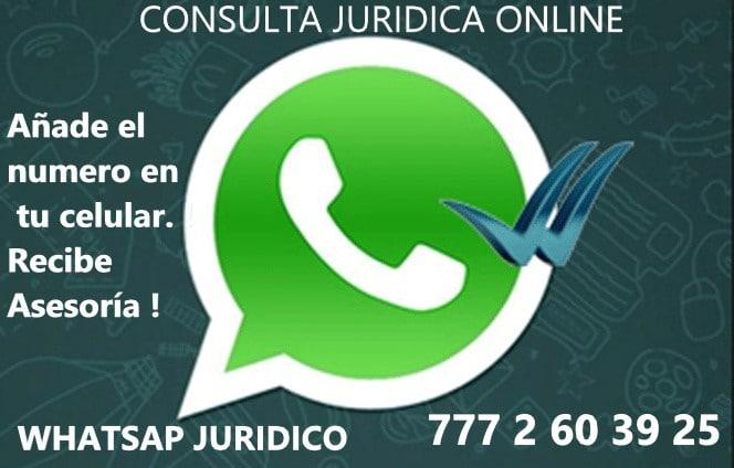 consulta juridica online. Contacto con abogado por whatsapp