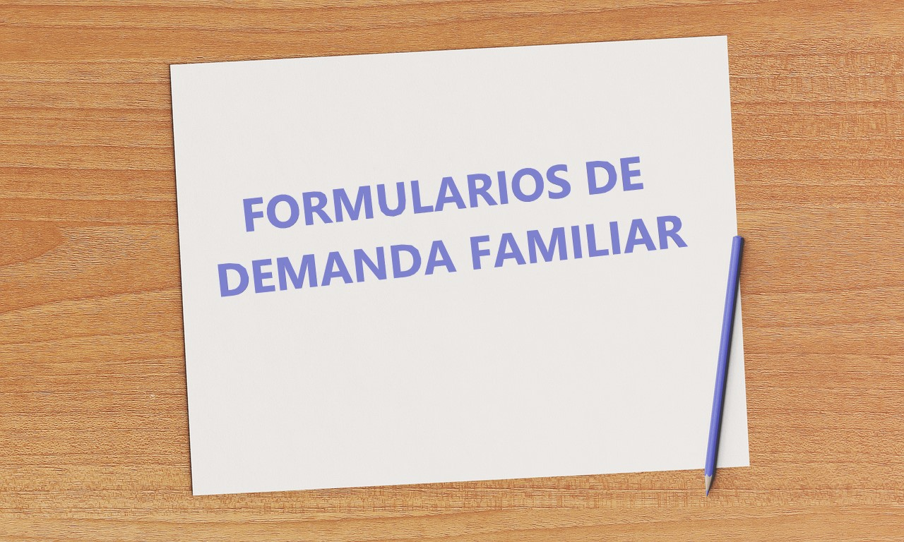 formularios de demanda familiar