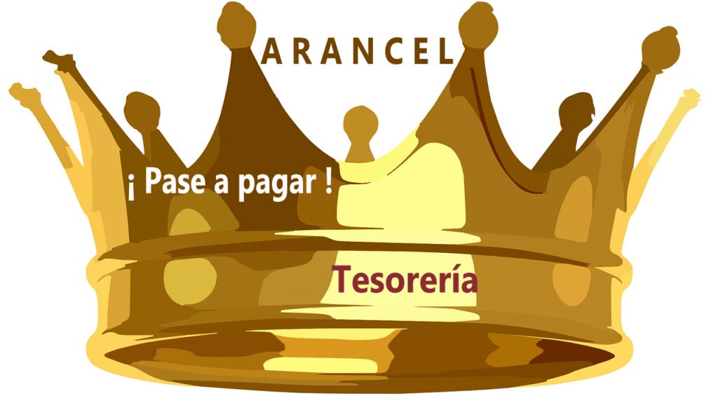 corona de rey Leyenda PASE A PAGAR a TESORERIA