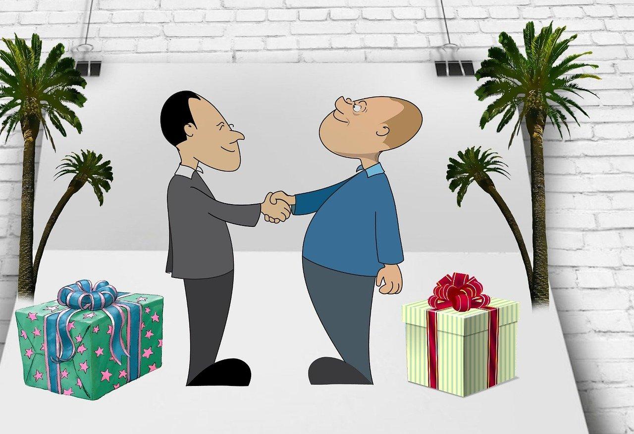 Intercambio de regalos. contrato de permuta